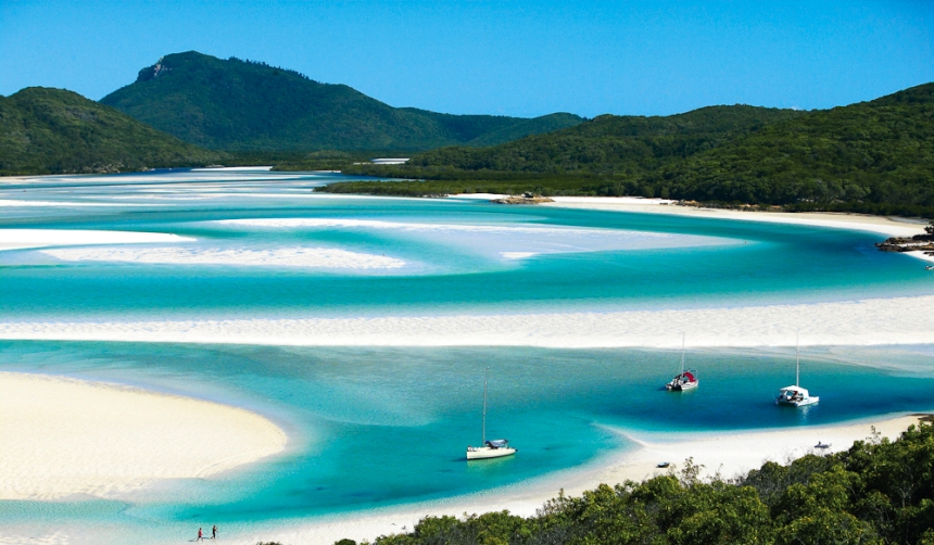 Hill Inlet, Whitehaven Beach, Whitsunday Islands, Queensland, Australia