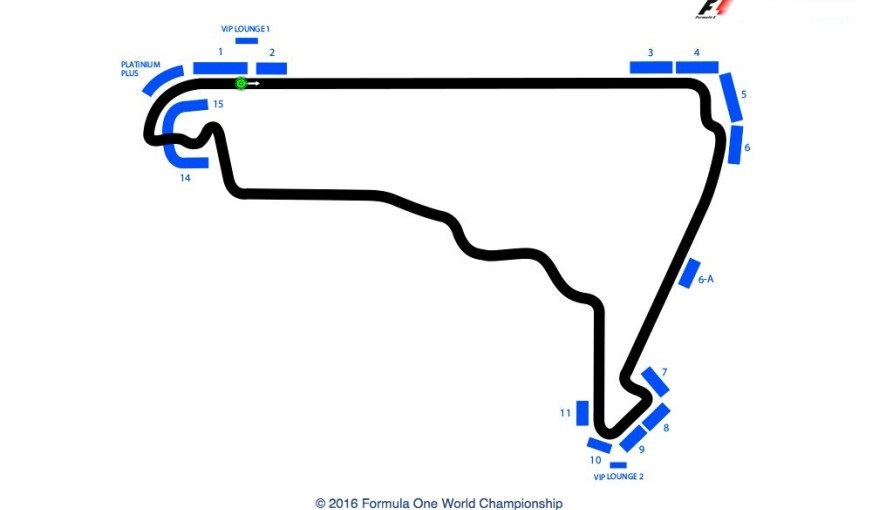 Mexico F1 Circuit Map