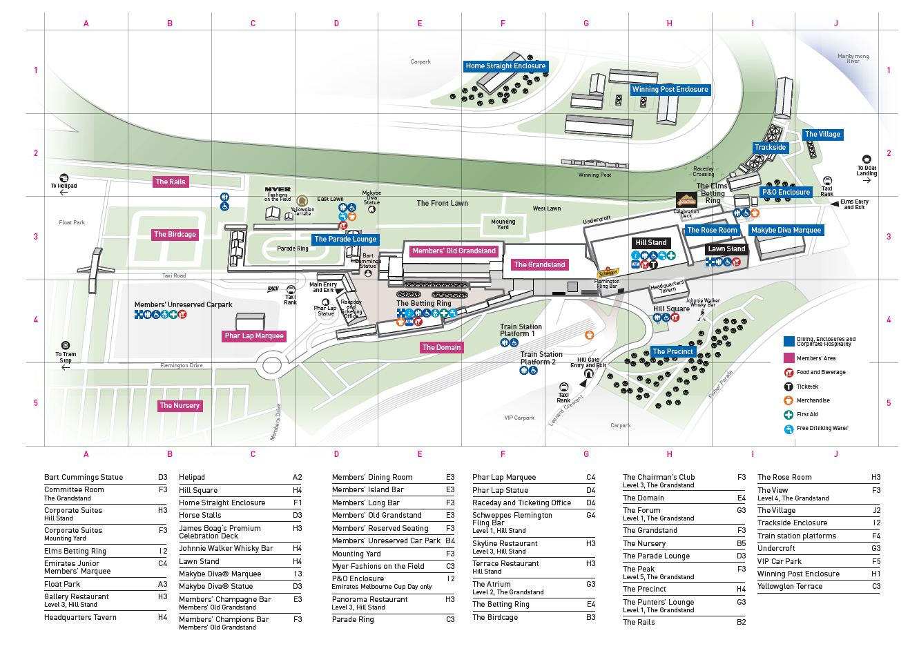 Flemington Grandstand Map